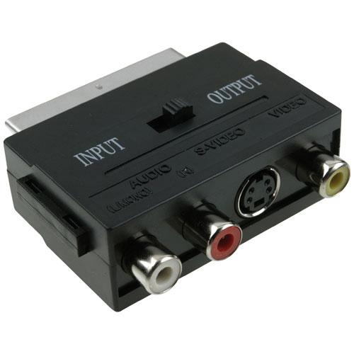 ICIDU Scart Audio / Video Adapter In / Out Produktbild side L