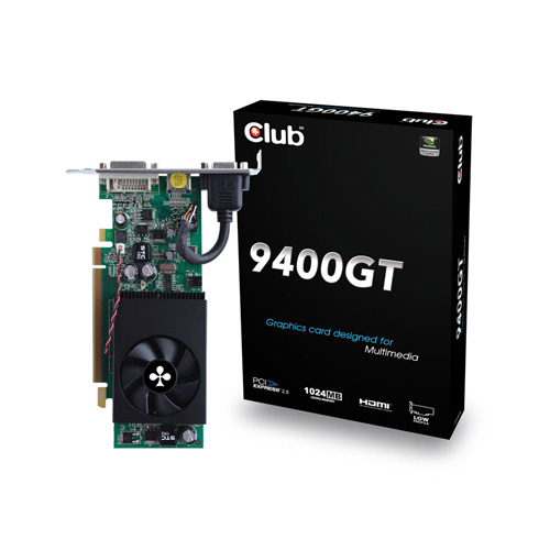 CLUB3D 9400GT Produktbild front L