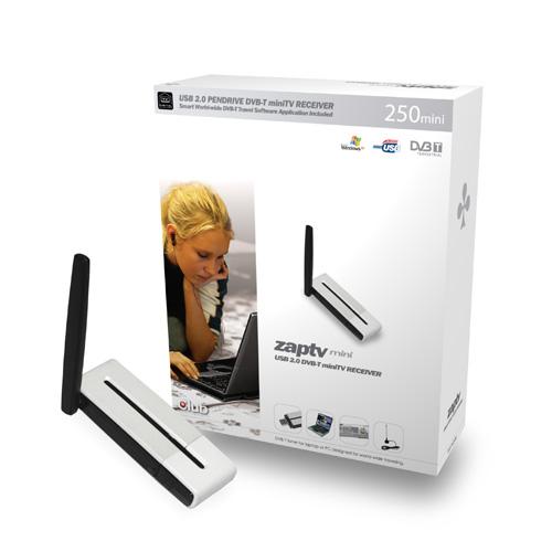 CLUB3D ZAP-TV250mini TV-tuner Produktbild front L