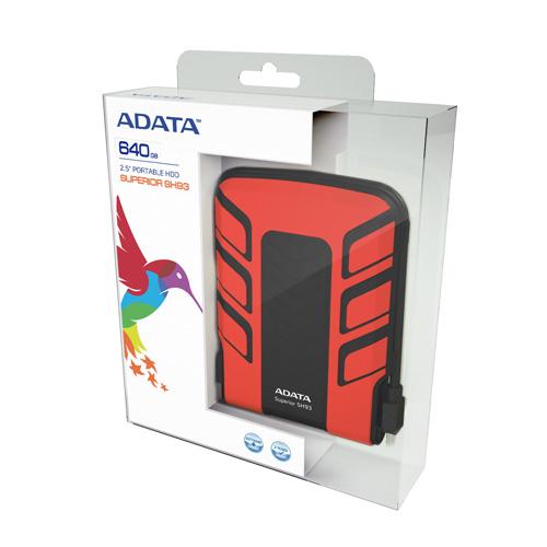 A-DATA 640GB SH93 Portable Produktbild side L