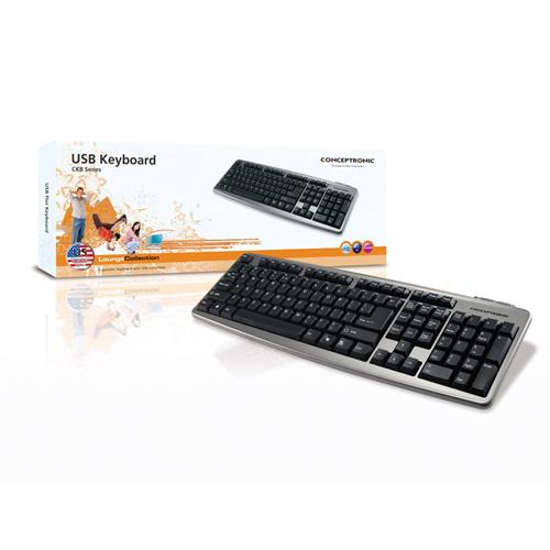 Conceptronic USB MULTIMEDIA KEYBOARD Produktbild side L