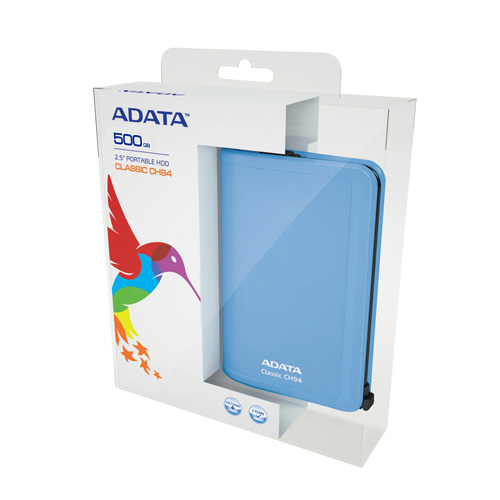 A-DATA CH94 Portable 500GB Produktbild side L