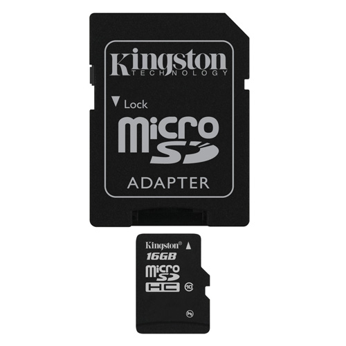 Kingston 16GB microSDHC Produktbild front L