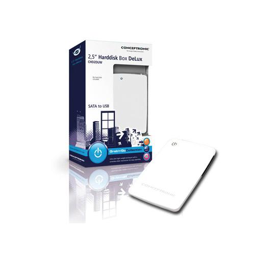 "Conceptronic 2,5"" Hard Disk Box DeLux Produktbild side L"