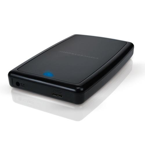 """Conceptronic 2,5"""" Harddisk Box USB 3.0 Produktbild side L"""