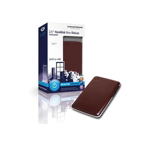 "Conceptronic 2,5"" Exclusive Hard Disk Box Produktbild side L"