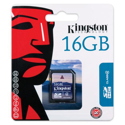Kingston 16GB SDHC Card Produktbild back L