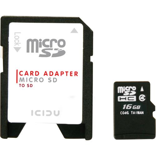 ICIDU Micro SDHC Karte 16GB Produktbild back L