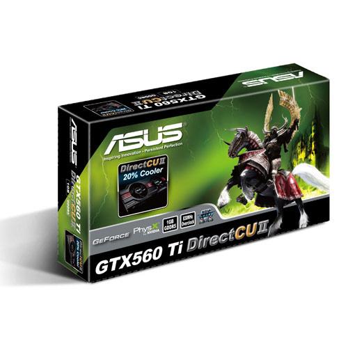 Asus PCI-E N ENGTX560 Ti DCII/2DI/1GD5 Produktbild side L