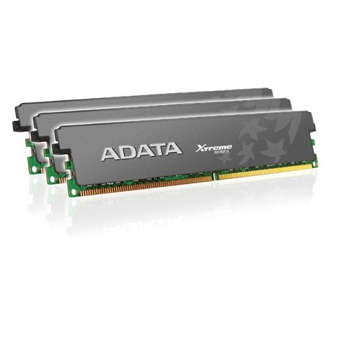 A-DATA XPG Xtreme Series, DDR3, 1600 MHz, CL7, 6GB (2GB x 3) Produktbild front L