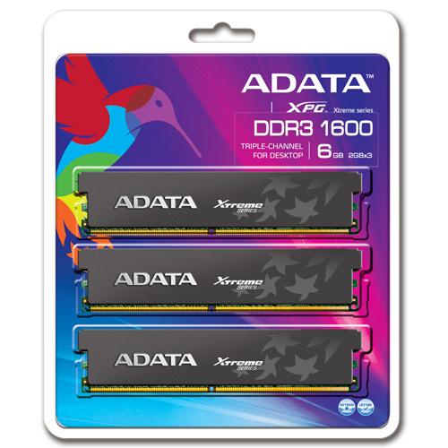 A-DATA XPG Xtreme Series, DDR3, 1600 MHz, CL7, 6GB (2GB x 3) Produktbild back L