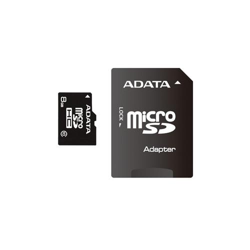 A-DATA 8GB microSDHC Class 10 Produktbild front L