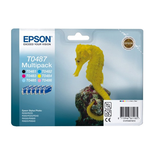 Epson Multipack 6-farbig T0487 Produktbild front L