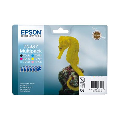 Epson Multipack 6-farbig T0487 Produktbild back L