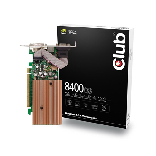 CLUB3D 8400GS 256MB GDDR2 Produktbild front L