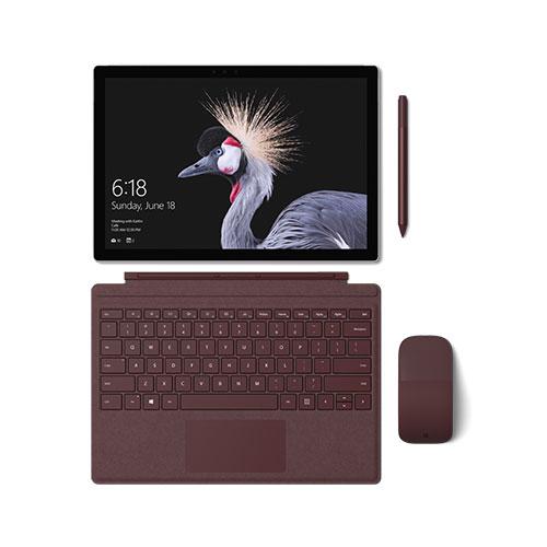 Microsoft Surface Pro Set Bordeauxrot Produktbild front L