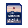 Kingston 16GB SDHC Card Produktbild front S