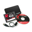 Kingston 128GB SSDNow V100 + Notebook Upg. Kit Produktbild front S