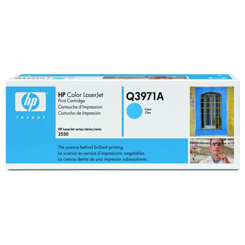 HP 123 LaserJet Printing Supplies 123A Cyan LaserJet Toner Cartridge product.image.text.alttext front L