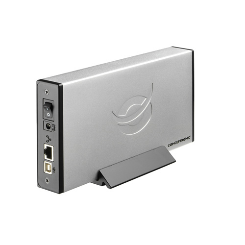 Conceptronic 3,5 inch Network (LAN) hard disk box product photo side L