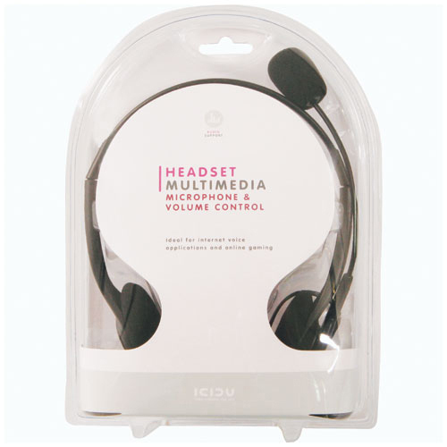 ICIDU Multimedia Headset With Microphone & Volume Control product.image.text.alttext back L