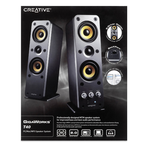 Creative Labs GigaWorks T40 product photo side L
