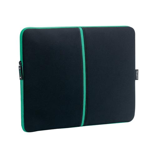 Targus Laptop Skin, Black/Green product photo front L