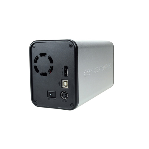 Conceptronic 3,5 inch HardDiskBox DualBay product photo side L