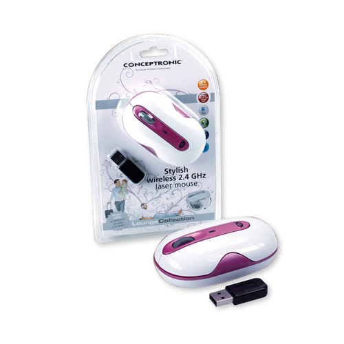 Conceptronic Stylish wireless 2.4 GHz Laser Mouse product photo front L
