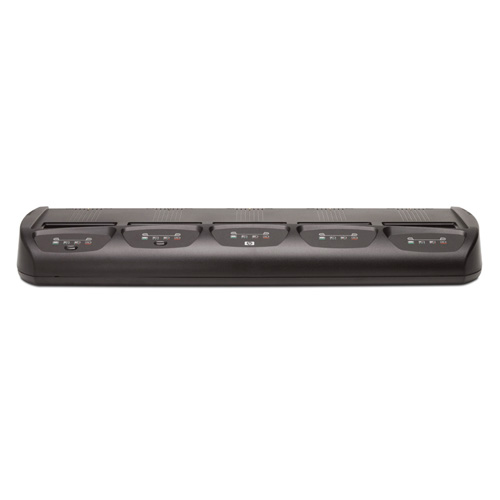 HP 5-Bay Battery Charging Station  product photo back L