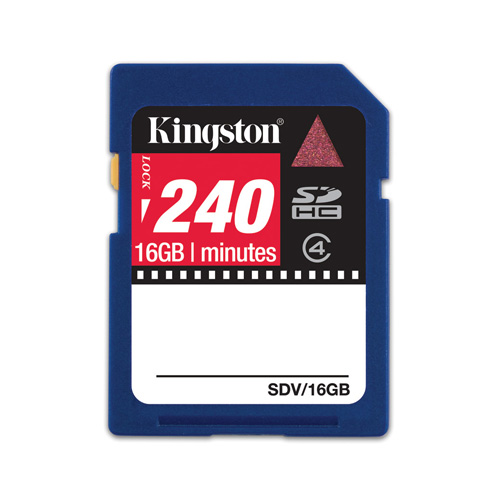 Kingston 16GB SDHC Video product photo front L