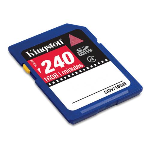 Kingston 16GB SDHC Video product photo back L