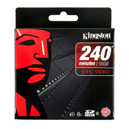 Kingston 16GB SDHC Video product photo side L