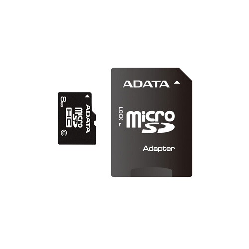 A-DATA microSDHC 8GB class6 product photo front L