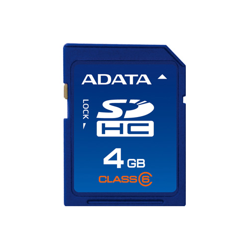 A-DATA SDHC 4GB class6 product photo front L
