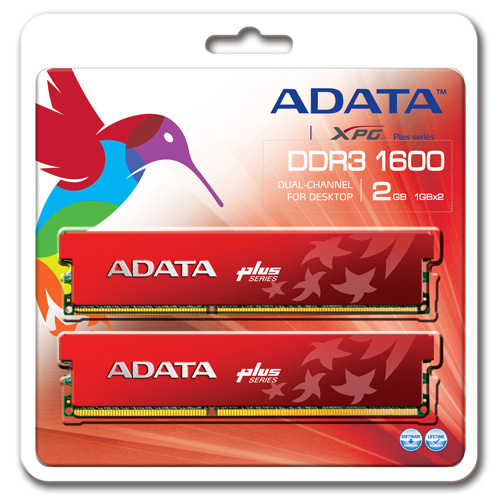 A-DATA XPG Plus Series DDR3 1600 MHz CL8 Dual Channel 4GB (2GBx2) product photo back L