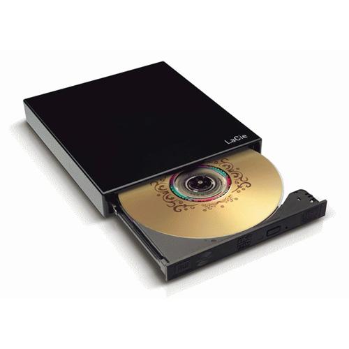 LaCie Portable DVD±RW, USB 2.0, 8x product photo back L