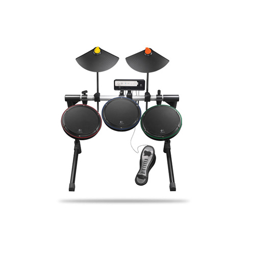 Logitech Wireless Drum Controller, Wii product photo front L