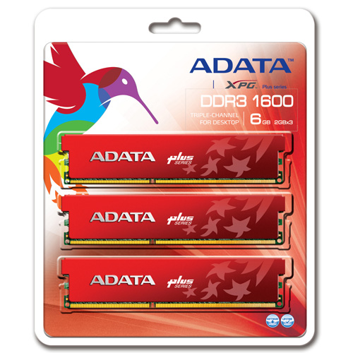 A-DATA XPG Plus DDR3, 1600 MHz, CL8, 6GB (2GB x 3) product photo back L