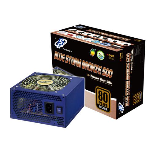 FSP/Fortron Blue Storm Bronze 500 product photo front L