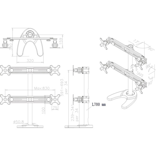 Newstar FPMA-D700DD4 product.image.text.alttext back L