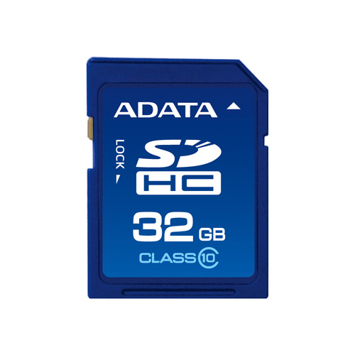 A-DATA 32GB SDHC Class 10 product photo front L