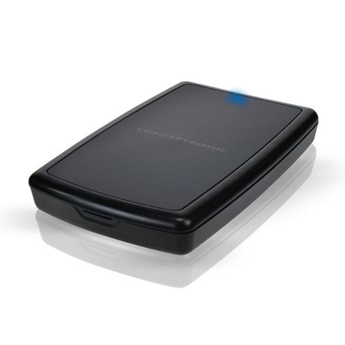 """Conceptronic 2,5"""" Harddisk Box USB 3.0 product photo back L"""