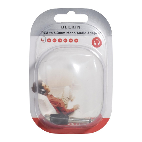 Belkin RCA/6.3mm jack adapter RCA-F/6.3mm MONO-M product photo front L