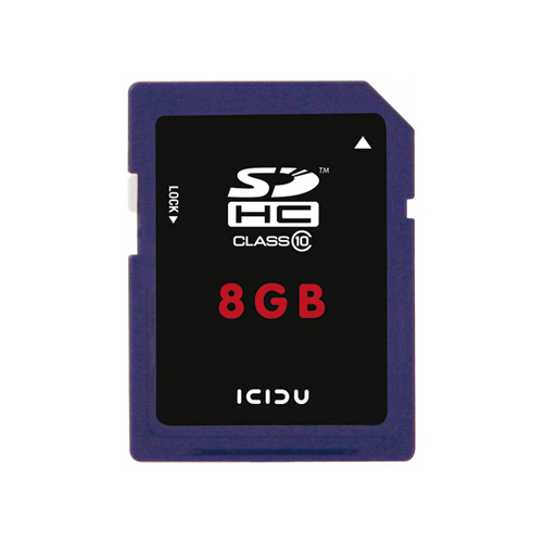 ICIDU Class 10 Hi-Speed Secure Digital Card 8GB product photo front L