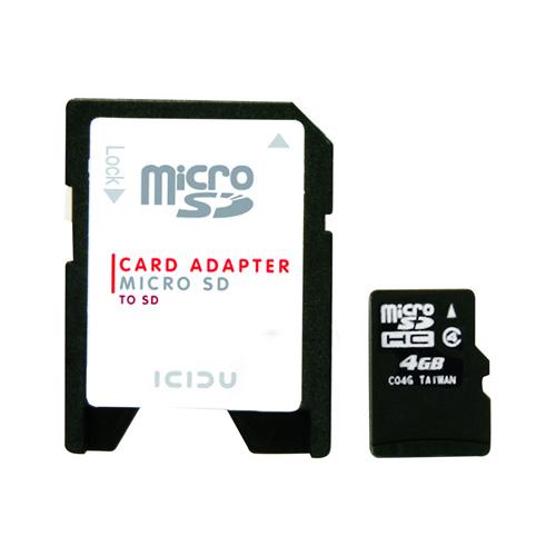 ICIDU Micro Secure Digital 4GB product.image.text.alttext front L