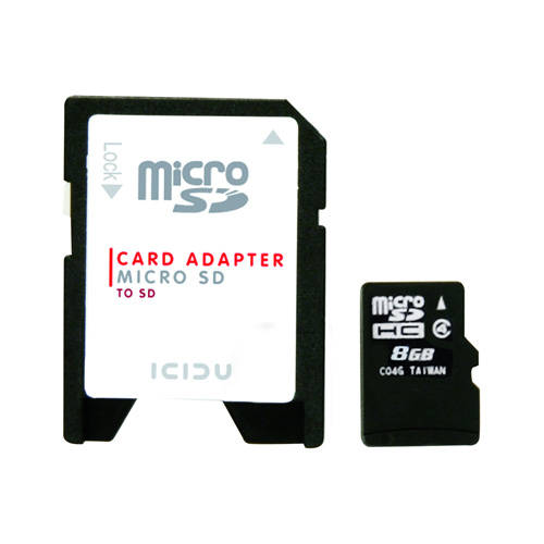 ICIDU Micro SDHC Card 8GB product photo front L