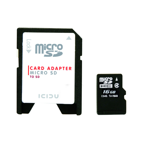 ICIDU Micro SDHC Card 16GB product photo front L