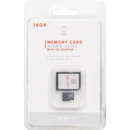 ICIDU Micro SDHC Card 16GB product photo side L