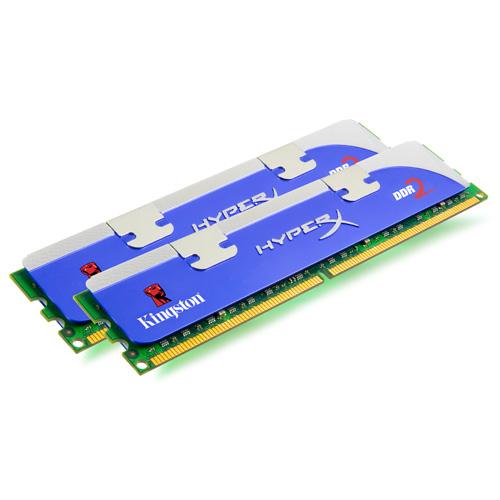 Kingston HyperX 2GB(2 x 1GB), 1066MHz,SDRAM-DDR2, 2.2V, CL5 (5-5-5-15), 128M X 64, Non-ECC product photo front L